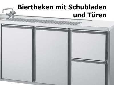 Kühltheken mit Türen und Schubladen