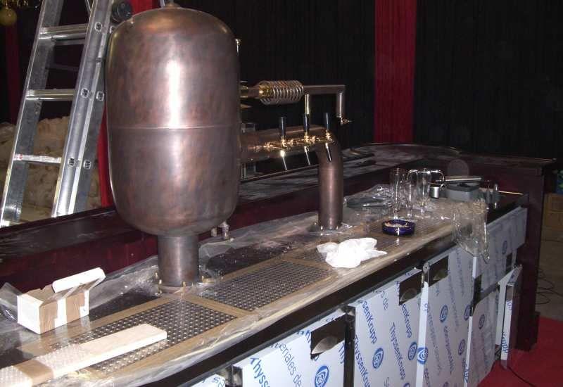 Biertheke mit Zapfanlage